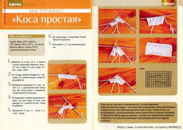 Вязание на машине схемы косы 35