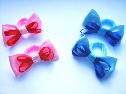 Резинки для волос из ленты своими руками