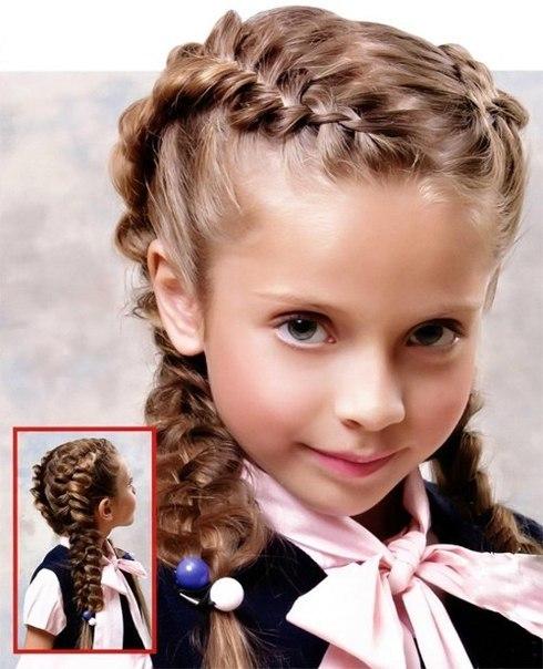 модные детские прически укладки косички