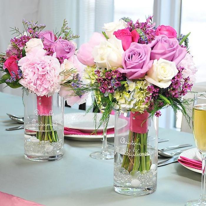 Букет из цветов на стол своими руками 56