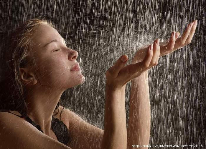 дождь на лицо (599x404, 263Kb)