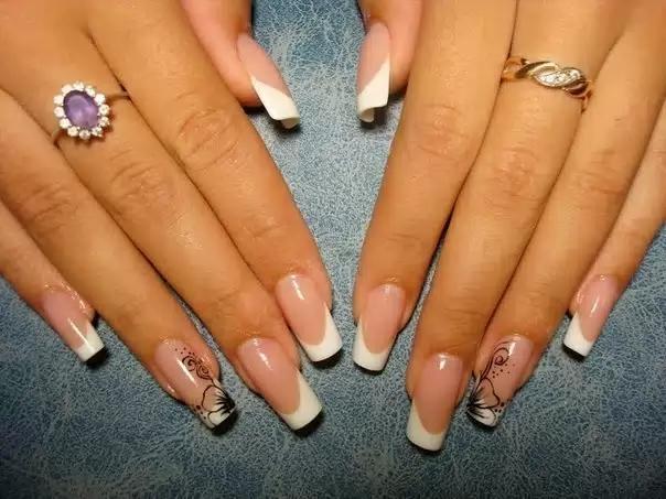 Френчи белые на ногтях