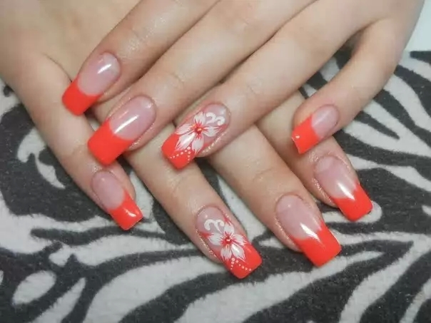 Дизайн нарощенных ногтей френч фото новинки