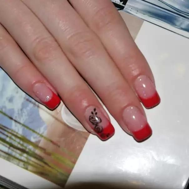 Аквариумны дизайн ногтей 70