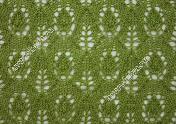 """针织模式:""""叶和芽"""" - maomao - 我随心动"""