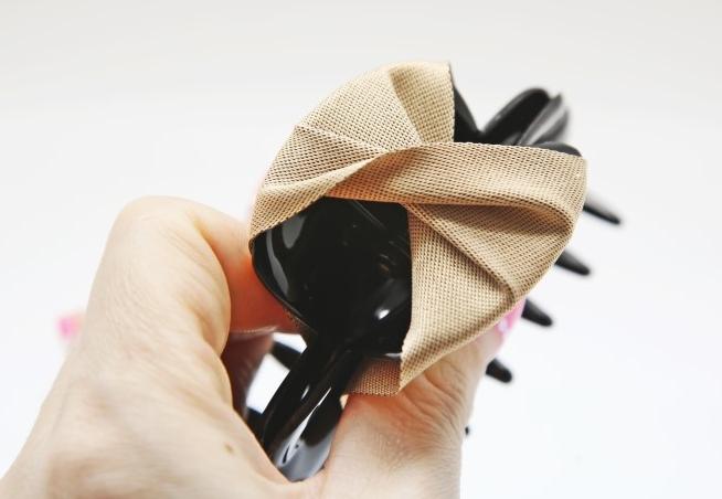 Декорируем лентами заколку-зажим для волос. Мастер-класс (8) (654x452, 318Kb)
