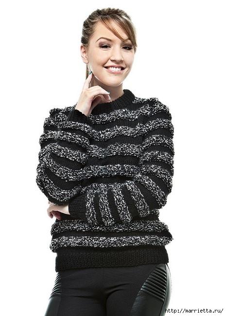 Выкройка женского пуловера (1) (465x649, 152Kb)