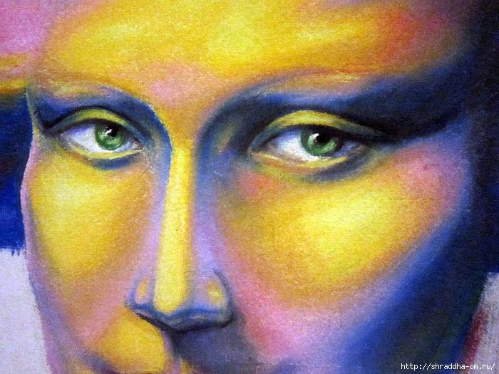Мона Лиза, пастель, автор Shraddha (4) (700x525, 371Kb)