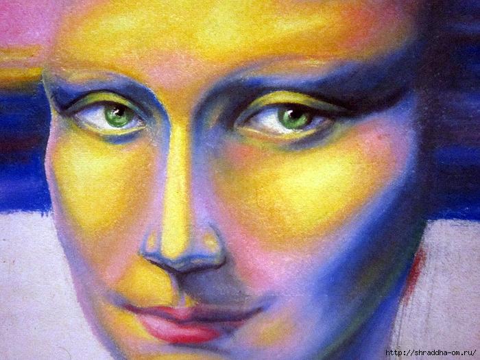 Мона Лиза, пастель, автор Shraddha (6) (700x525, 349Kb)
