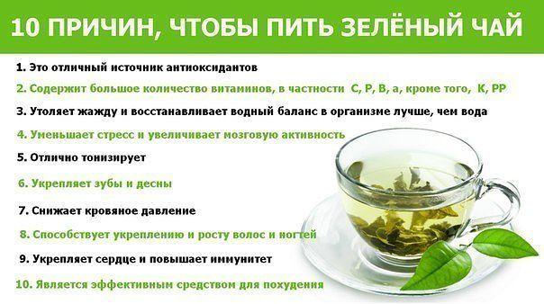 10 причин пить зеленый чай