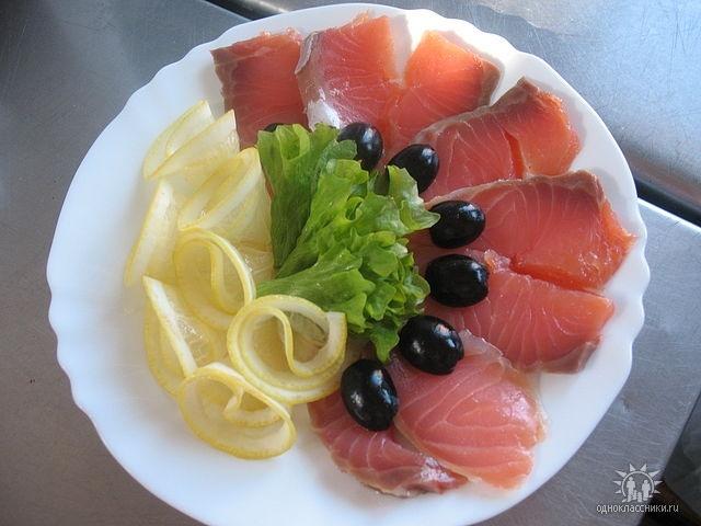Как сделать красивую рыбную нарезку