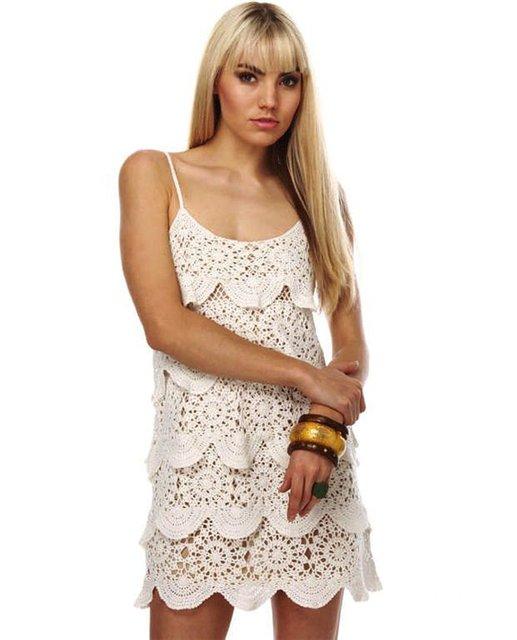 платье вязаное крючком,
