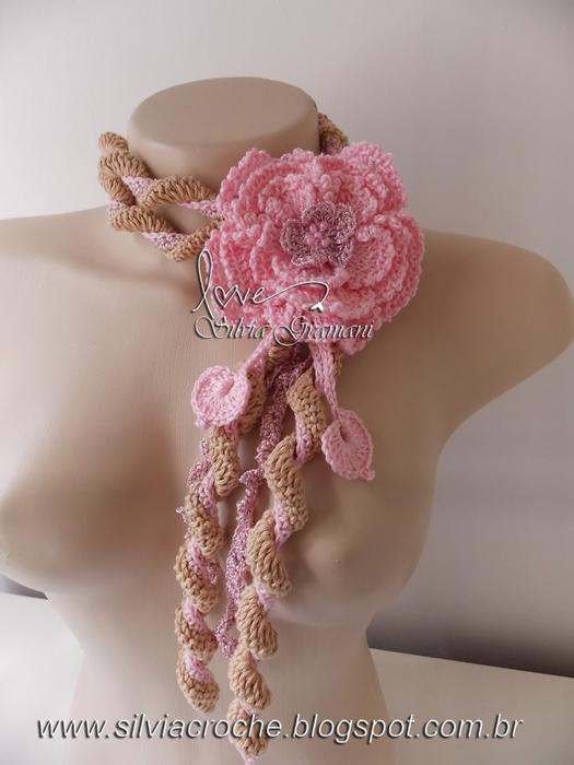 Silvia Gramani cordáo amor bege e rosa (525x700, 193Kb)