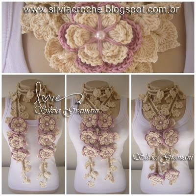 Silvia Gramani cordГЈo nature lotus rosa broches (400x400, 148Kb)