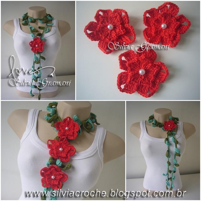 Silvia Gramani cordão relva flower vermelho II (700x700, 346Kb)