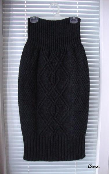 Схема вязания юбки карандаш