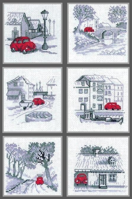Схема вышивки машинка красная