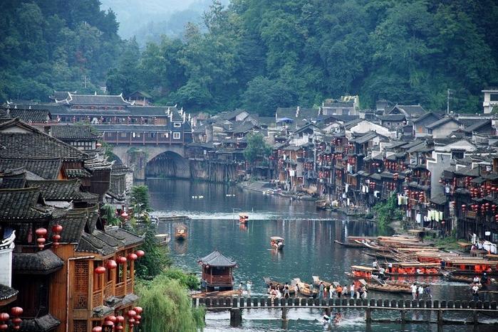 китайский город фэнхуан (700x467, 445Kb)
