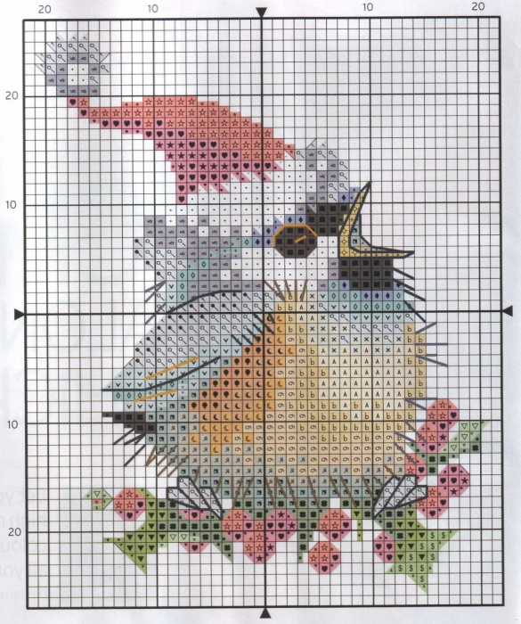 Stitchart-Christmas-Bird1 (585x700, 484Kb)