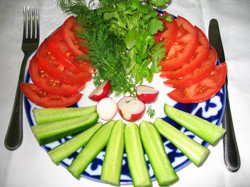 Простые украшение салатов своими руками фото 149