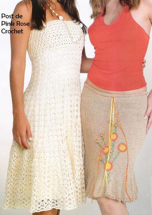 Vestido e Saia de Croche - PRose Crochetfoto (495x700, 64Kb)