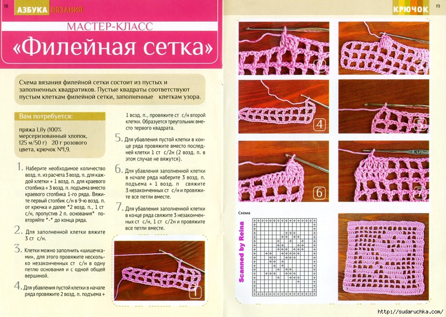 Как научиться филейному вязанию