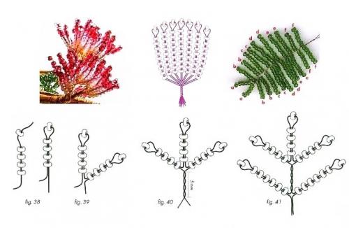 альбиция сплетенный из бисера схема. схема плетения альбиции из бисера.