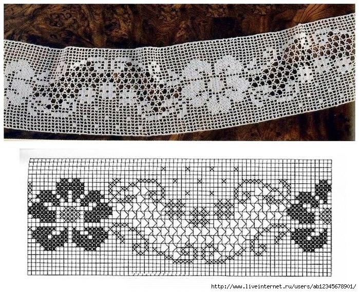 Филейное вязание бордюры 22