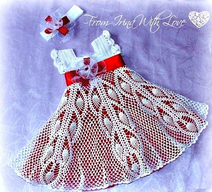 Ажурные платья для девочки