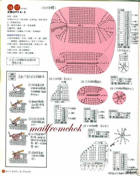 Hello Kitty! Вяжем японскую кошечку. Отличный журнал со схемами (16) (557x700, 323Kb)