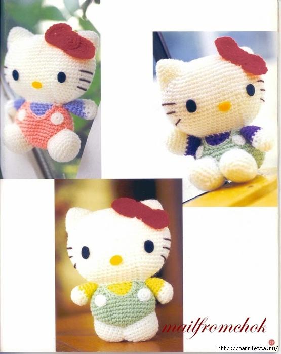 Hello Kitty! Вяжем японскую кошечку. Отличный журнал со схемами (27) (555x700, 204Kb)