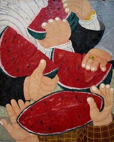 Июнь картина щелково едоки арбуза своему виду