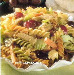 Макаронный салат с курицей и виноградом (300x302, 33Kb)