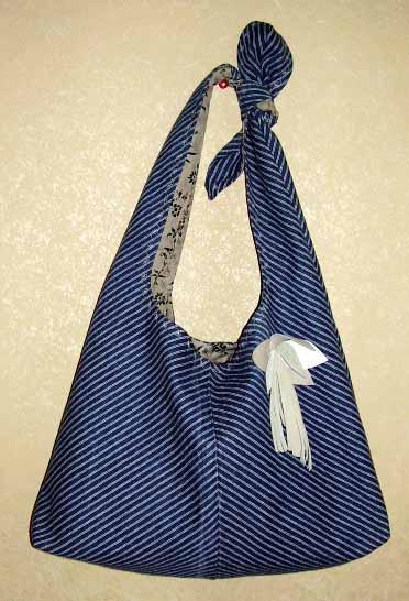 как украсить сумку платком