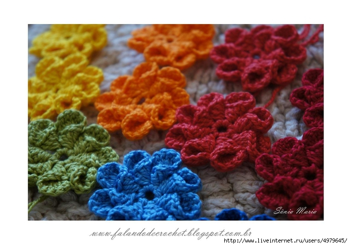 FLORES DE CROCHE CONE CROCHET FLOWERS (700x492, 216Kb)