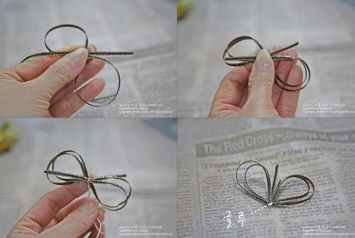 Розочка из ленточки для украшения зажима для волос. Мастер-класс (18) (700x469, 412Kb)