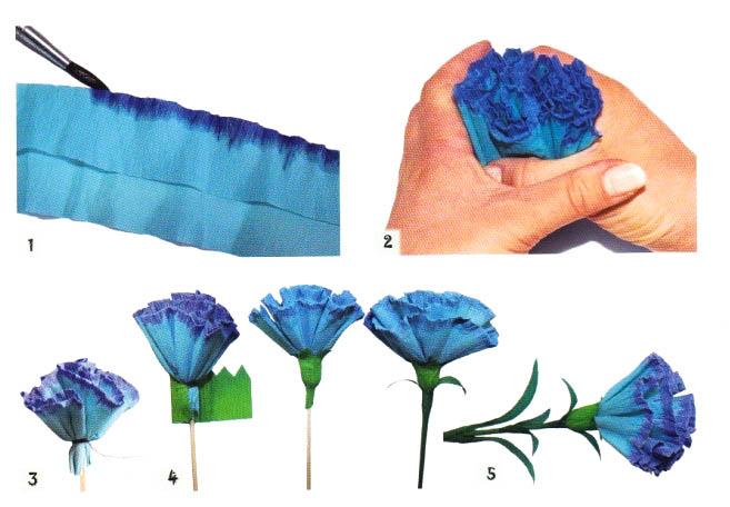 Как сделать гвоздика из бумаги своими руками поэтапно фото