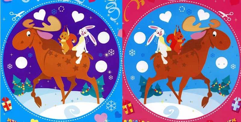 Трафареты цветные на новый год