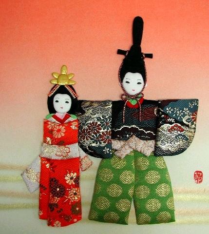 Панно с японскими куклами в технике пэчворка без иголки (17) (429x480, 199Kb)