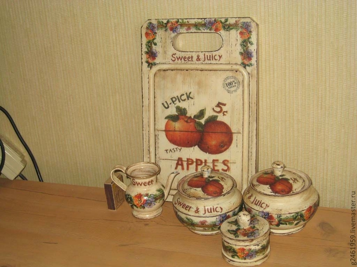 Кухонный набор Яблоки (700x525, 257Kb)