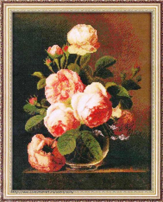 Розы Юнона 0120 Вышивка