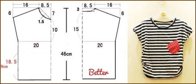 Как сшить футболку выкройка