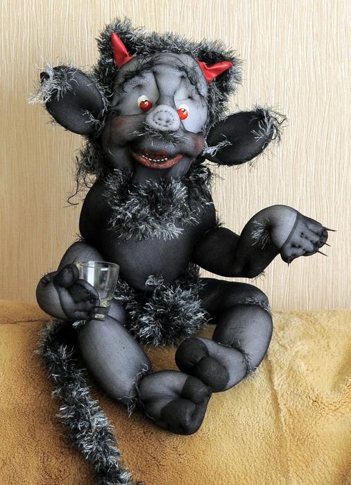 Кукла чертёнок своими руками