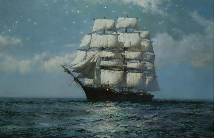 104418404_3623822_A_Clipper_Ship_In_A_Moonlit_Sea (699x451, 211Kb)
