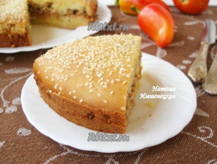 пирог с мясным фаршем рецепт с фото