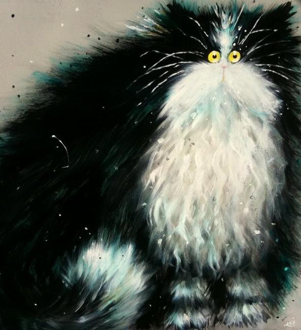 смешные коты Kim Haskins 1 (590x647, 156Kb)