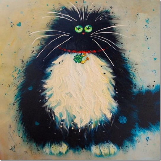 смешные коты Kim Haskins 2 (544x544, 183Kb)