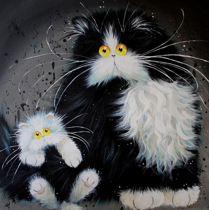 смешные коты Kim Haskins 8 (699x700, 371Kb)