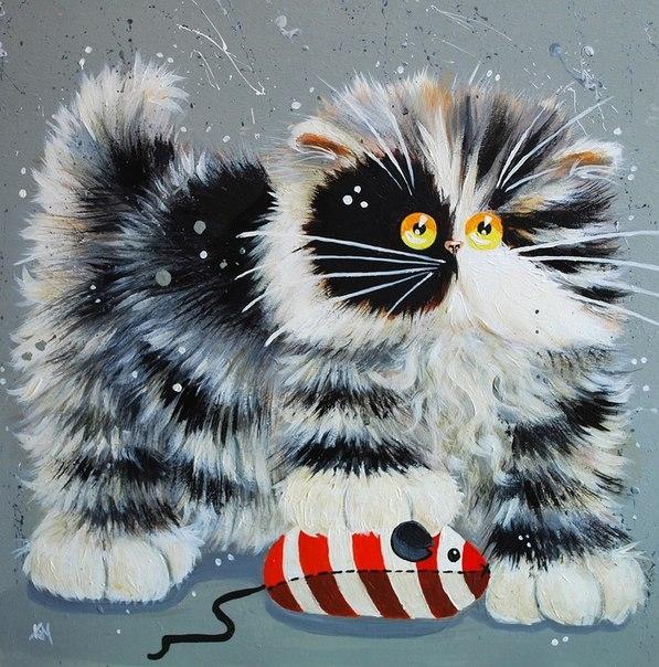 смешные коты Kim Haskins 16 (597x604, 276Kb)