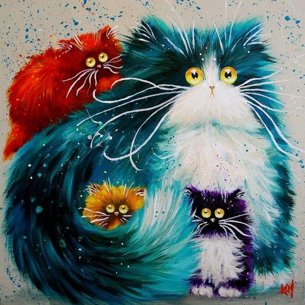 смешные коты Kim Haskins 18 (604x604, 322Kb)